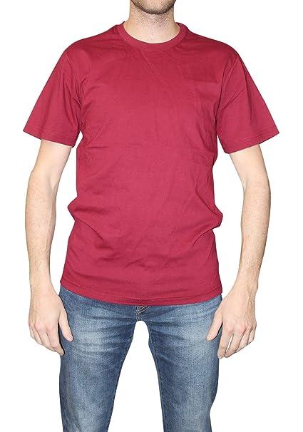 5acc2b5a02aa City Lab Men's Fitted Short Sleeve Crewneck T-Shirt, Burgundy, XXX-Large