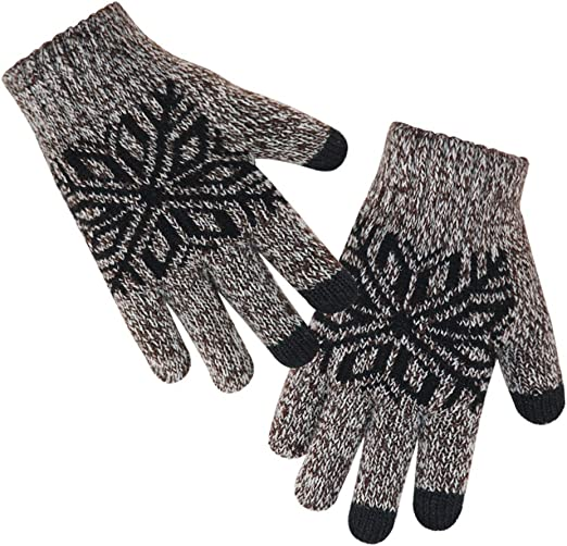 WensLTD/_ Children Winter Cold Warm Gloves,Cute Hanging Neck Mittens Thicken Thermal Knit Gloves for 1-4 Years Boys and Girls