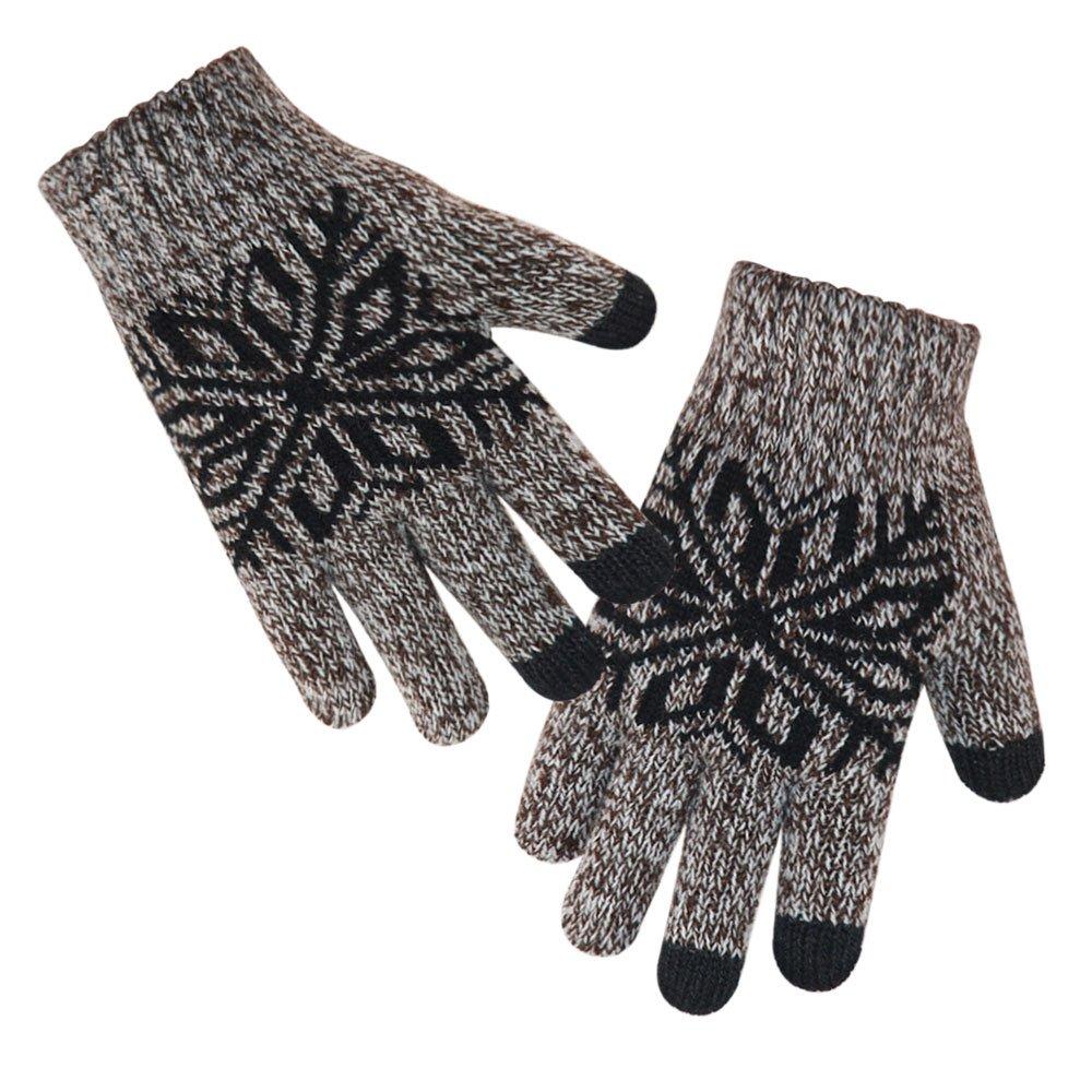 LETHMIK Kids Winter Knit Gloves Children Wool Lined Warm Glove with Touchscreen Tech children winter gloves