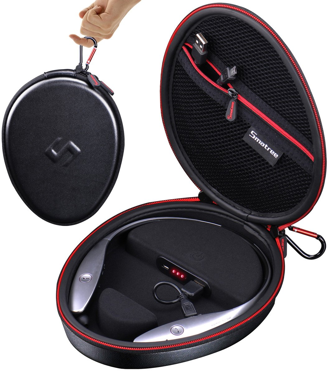 lg 910 headset. amazon.com: smatree charging case s100 (not fit for hbs-910) lg wireless headphone tone+ hbs-700w/hbs-730/hbs-750/hbs-760/hbs-800/hbs-900-(headphone is lg 910 headset