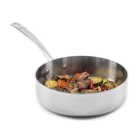 Amazon.com: Brigade Kitchen - Sartén de acero inoxidable con ...