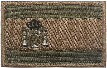 Parche bordado con bandera de España para coser sobre 8 x 5 cm, parches para operador con gancho y cierres en la parte trasera Army Green: Amazon.es: Hogar
