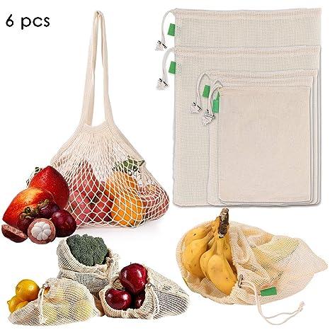 Yolispa Bolsas reutilizables para frutas y verduras, bolsas ...