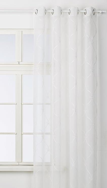 Tende Di Lino Bianche.Home Fashion 051 469 1005 245 X 0130 Tenda Di Lino Ricamato