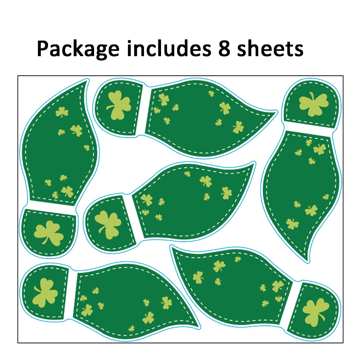 graphic about Leprechaun Feet Printable identify jollylife 48Ct St. Patricks Working day Decorations Leprechaun Footprints Ground Clings- Shamrock Get together Decorations Decals Stickers