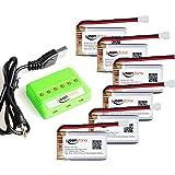Keenstone 3.7V 720mAh Syma X5C X5C-1 X5SW X5SC X5 バッテリー 720mAhバッテリー6個と6ポート充電器1個