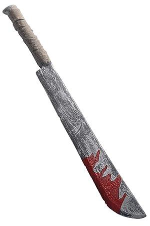 Smiffys Cuchillo Largo con Manchas de Sangre, 74cm, Deluxe