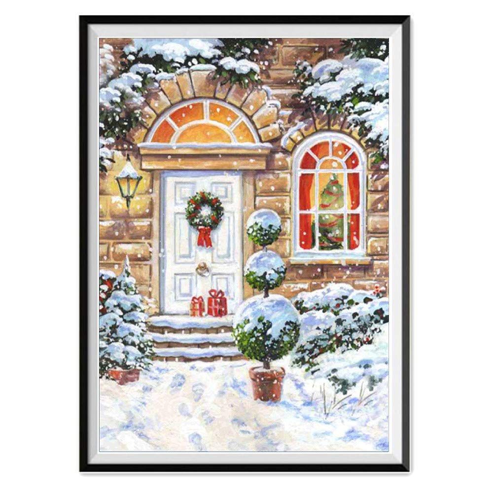 5D DIY Diamond Painting By Number Kits Christmas Crystals Embroidery Kits Arts, Crafts & Sewing Cross Stitch (Multicolor A)