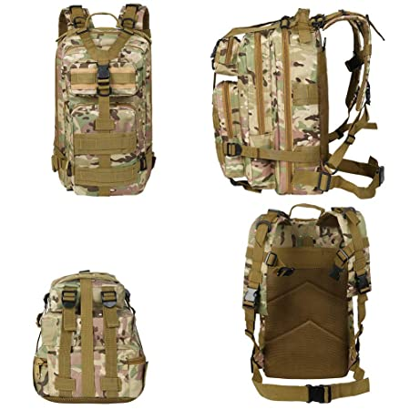 Amazon.com : VBG VBIGER Military Tactical Backpack Molle Backpack Army Outdoor Day Rucksack for Hiking Trekking Camping Hunting 30L : Sports & Outdoors