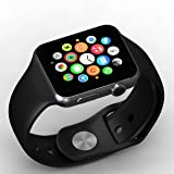 SONTIGA Bluetooth Smartwatch with Camera, SIM Card Slot and Pedometer, Sleep Monitoring, Loud Speaker, Microphone, Touch Screen, Multi-Language