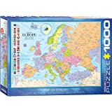 """Eurographics 6000-0789 """"Map of Europe"""" Puzzle (1000-Piece)"""