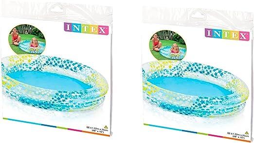 INTEX Piscina Hinchable Estrellas Kit Anillo 2 Círculos (48 ...