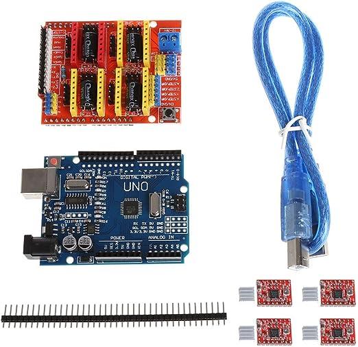 Cutogain Impresora 3D CNC Shield V3 + Controlador 4xA4988 + UNO R3 ...