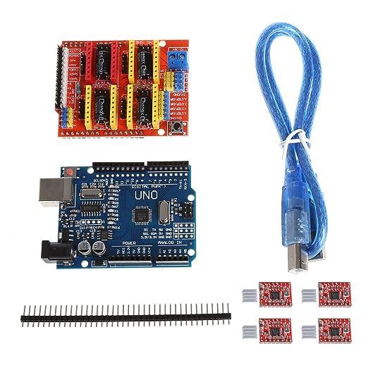 Cutogain Impresora 3D CNC Shield V3 + Controlador 4xA4988 + ...