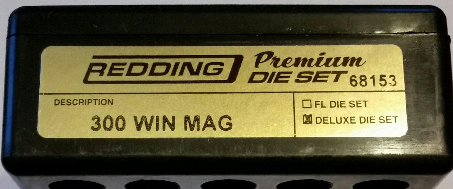 Redding Premium Series Deluxe 3-Die Set 300 Winchester Magnum