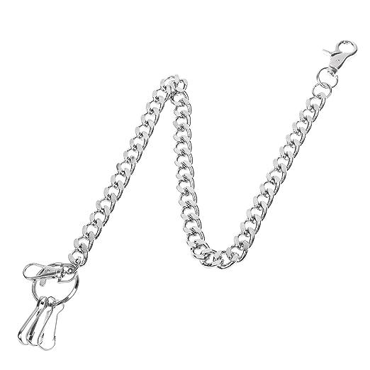 9321e58f4fd Amazon.com: COSMOS Fashion Men's Wallet Keychain Key Chain Link for ...