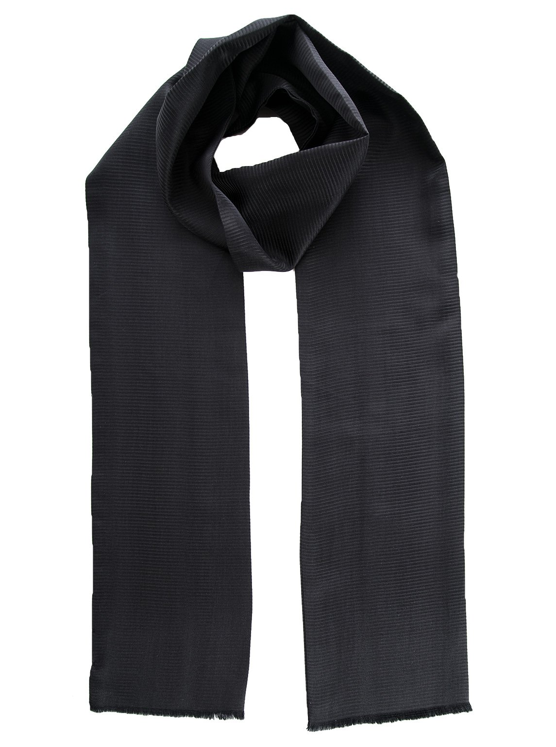 Elizabetta Men's Italian Silk Tuxedo Opera Scarf, Black, Skinny Style