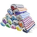 HAVLULAND Sale Set of 6 XXL Turkish Cotton Beach Bath Spa Sauna Hammam Yoga Gym Hamam Towel Fouta Peshtemal Pestemal…