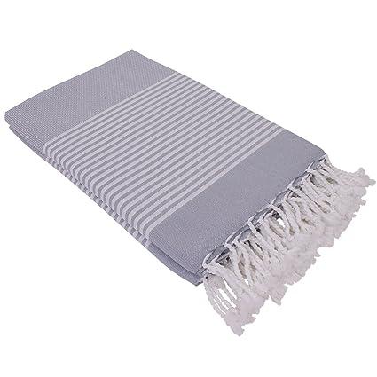 Tela de Hamam DENIZ gris 100x200cm, ligera y fina de 100% algodón - perfecta