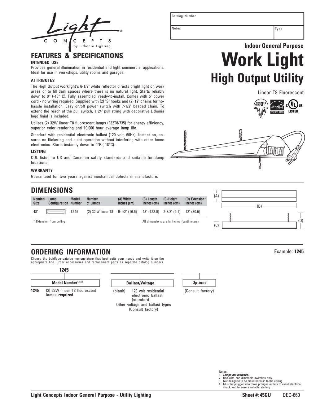 Lithonia Lighting 1241dp Re Fluorescent Worklight Diamondplate How To Wire Lights In Series Diagram Silver Led Household Light Bulbs