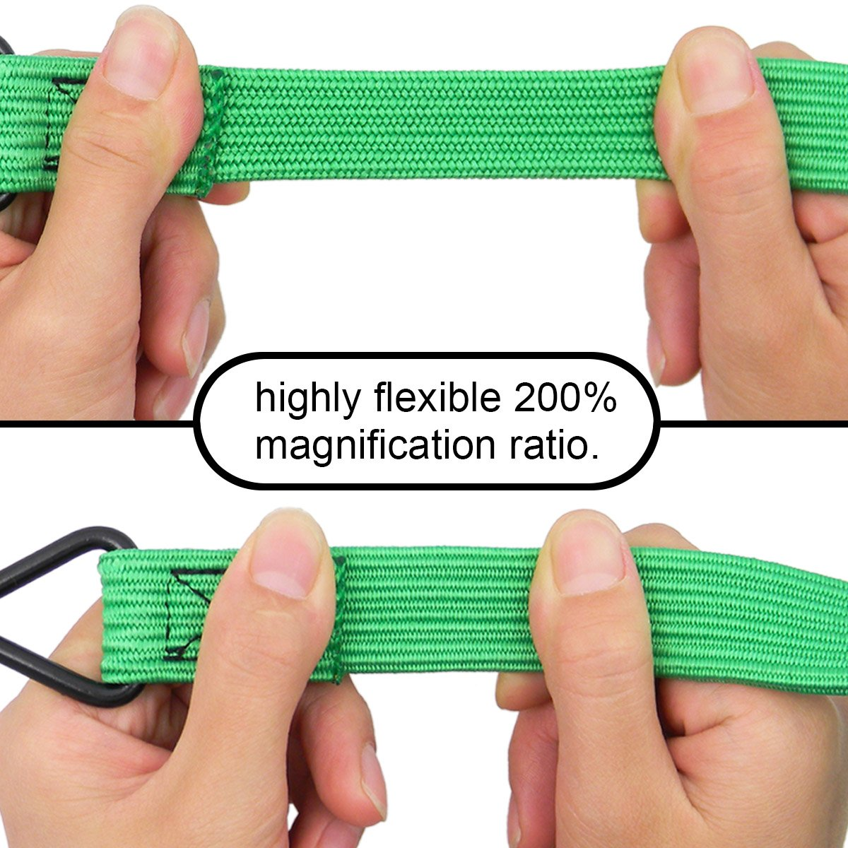 Shells Green Highly Stretchy Compact Dual Safety Hook Clips 72 Inches Bike Motorbike Luggage Cord Rope Bungee Rope Shells group