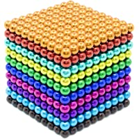 Qqwe Magnetic Balls 1000 PCS 3 MM Rainbow Creative Magnet Toys Set Rare Earth Powerful Beads Desktop Sculpture with…