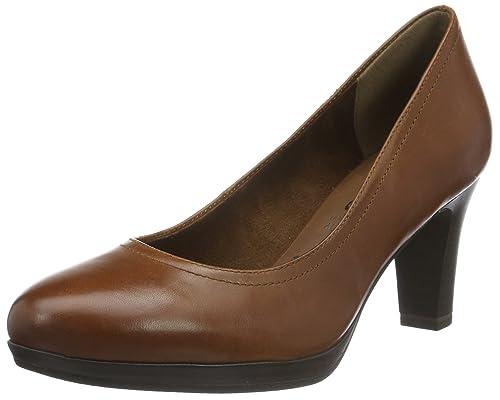 9da0ea87bf Tamaris Women s Zealot 1-1-22410-27 Cognac Pump  Amazon.ca  Shoes ...
