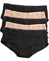 Jezebel Sparkle Cheeky - Fawn/black 5 Pack