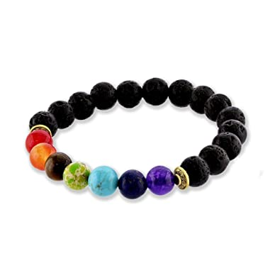Gemstone Healing Chakra Bracelet Anxiety Crystal Natural Stone
