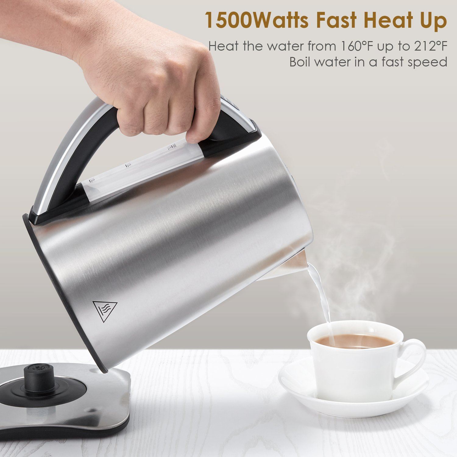 Buy Aicok Electric Kettle Precise Temperature Control Hot Water Wrp On The Go Coffee 200ml Bundle 4 Stainless Steel Tea 17 Liters 1500watt Online At Low Prices In India