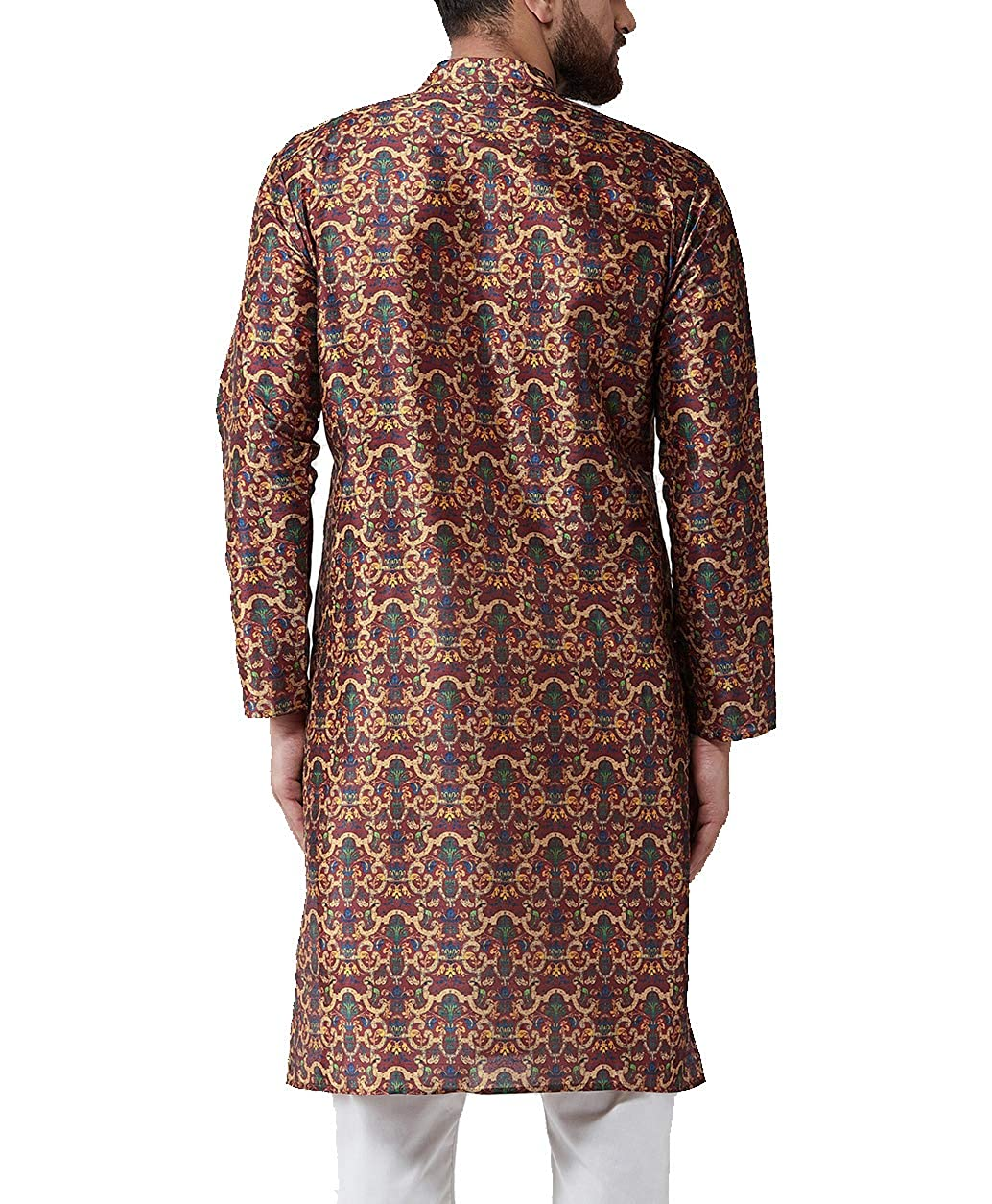 Festival-Men-Dupion-Silk-Kurta-Pajama-Ethnic-Party-Wear-Bollywood-Dress-Pyjama thumbnail 24