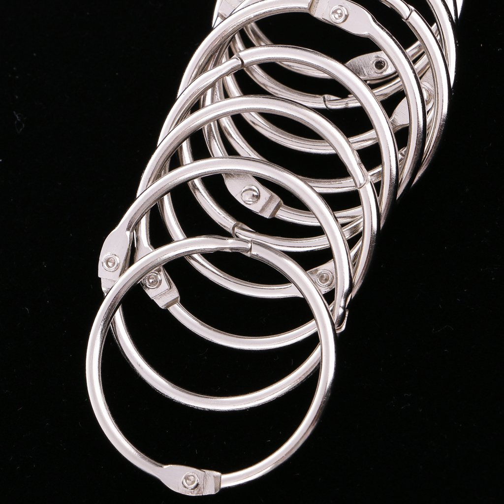 Bronze MagiDeal 10 Pieces Silver//Bronze Metal Super Strong Jump Rings Split Rings Connectors 2 cm