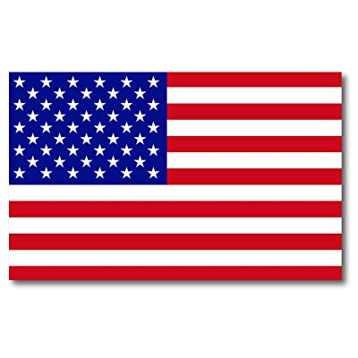 American Flag Car Magnet Decal - 5 x 8 Heavy Duty for Car Truck SUV Waterproof: Automotive