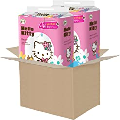Hello Kitty toilet paper flower 100 % wood pulp 4-ply 48 Rolls (Two