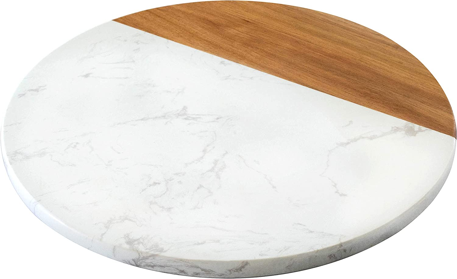 KŌRE LIVING White Marble and Acacia Wood Cheese Board - 12