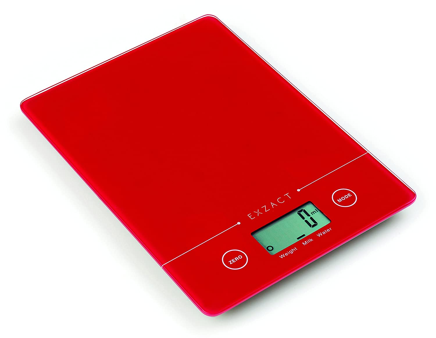 Exzact EX9150 Super Slim (1.4 CM) Electronic Kitchen Scale / Food Weighing Scale / Digital Scale - Tempered Glass Platform - Touch Button - Battery Included - 5kg/11lb (Black) Exerz Limited