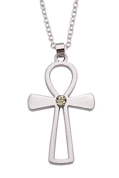 975e0a76d4f7 TEAMER Collar con Colgante de Plata con Cruz Infinity de Jesús ...