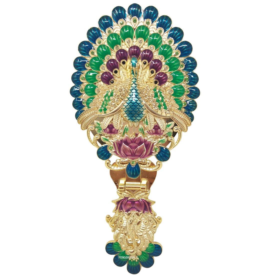 Fengshui Wish-Granting Peacock Mirror W Fengshuisale Red String Bracelet W3330