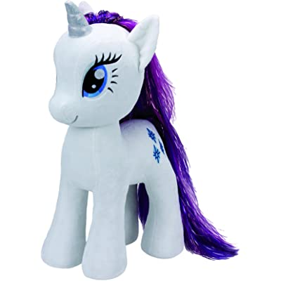 "Ty Beanies My Little Pony Rarity 16"" Plush: Toys & Games"