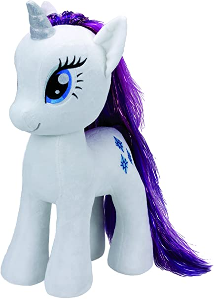 Amazon Com Ty Beanies My Little Pony Rarity 16 Plush Toys Games