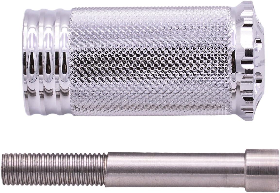 KATUR Moto Repose-Pieds CNC en Aluminium Noir Repose-Pied Repose-Pieds Repose-Pieds Shifter Peg pour Harley Davidson Sportster XL 1200 883 Personnalis/é