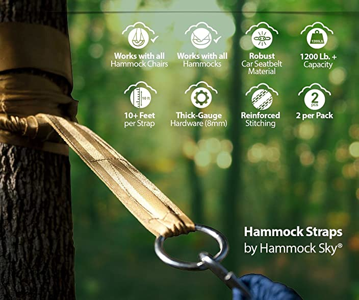 Hammock Sky Hammock Tree Straps by Best Extra Long Hanging Straps for Camping & Travel
