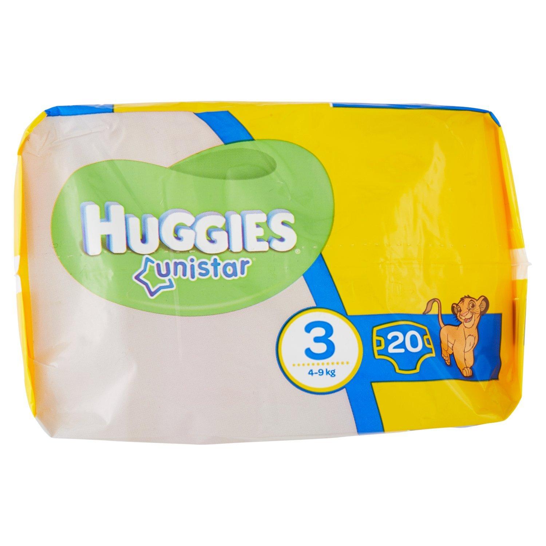 Huggies - Unistar - Pañales - Talla 3 (4-9 kg) - 20 pañales: Amazon.es: Salud y cuidado personal