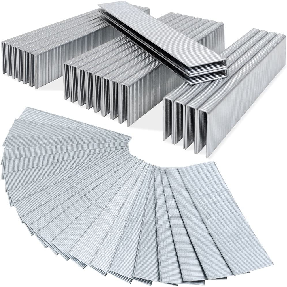 Agrafes 5000 pi/èces L l 5,8mm int/érieur ext/érieur acier pour agrafeuse pneumatique outils bricolage 25mm