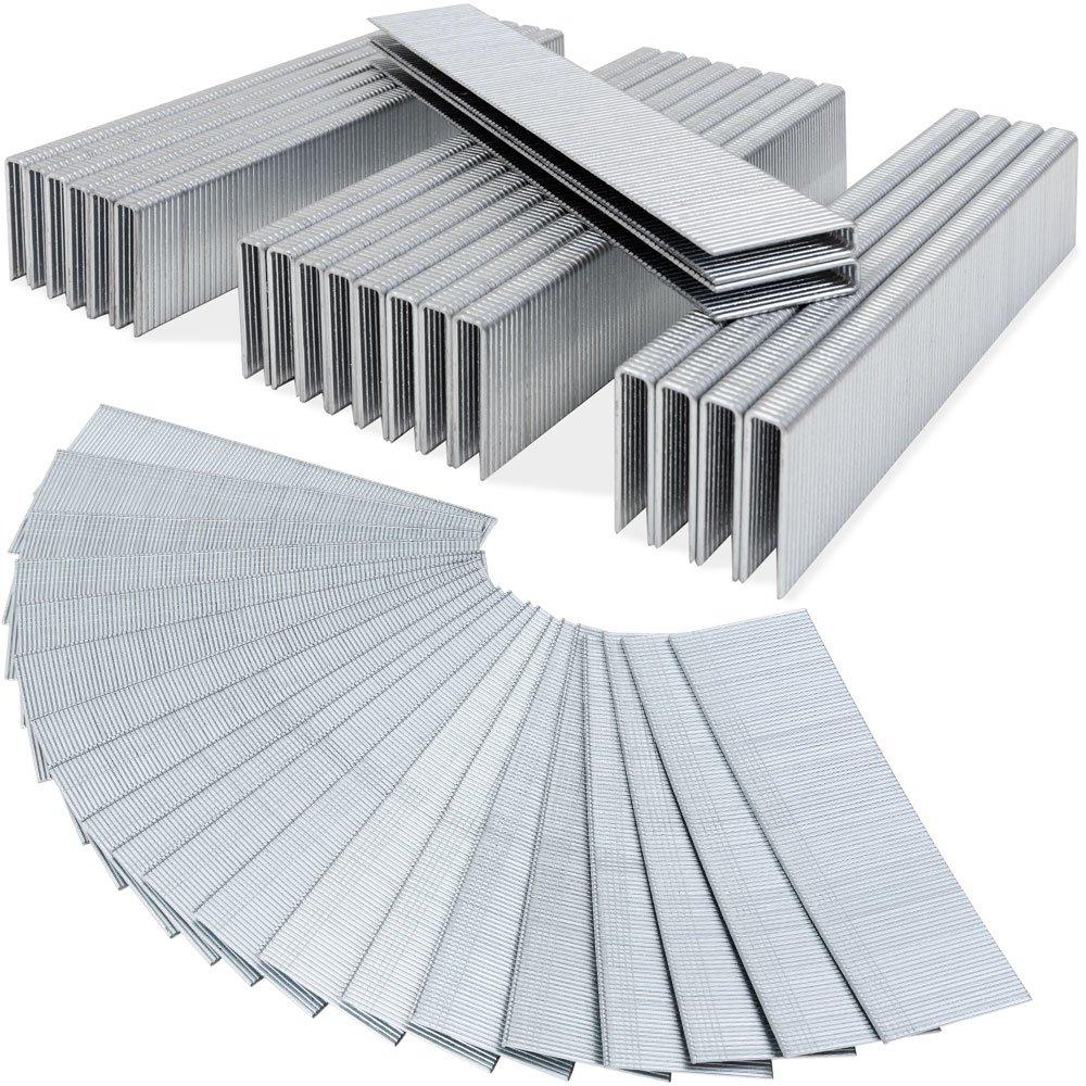 5000 Druckluft Tackerklammern Tackernä gel AUSWAHL 12-50mm / Klammern 25mm Deuba