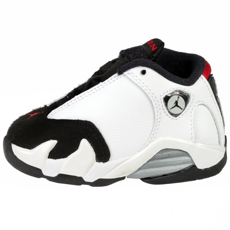 the best attitude bd7c9 3c22a Amazon.com   Jordan Preschool 14 Retro BT WHITE VARSITY RED METALLIC SILVER  654973-102 10   Sneakers