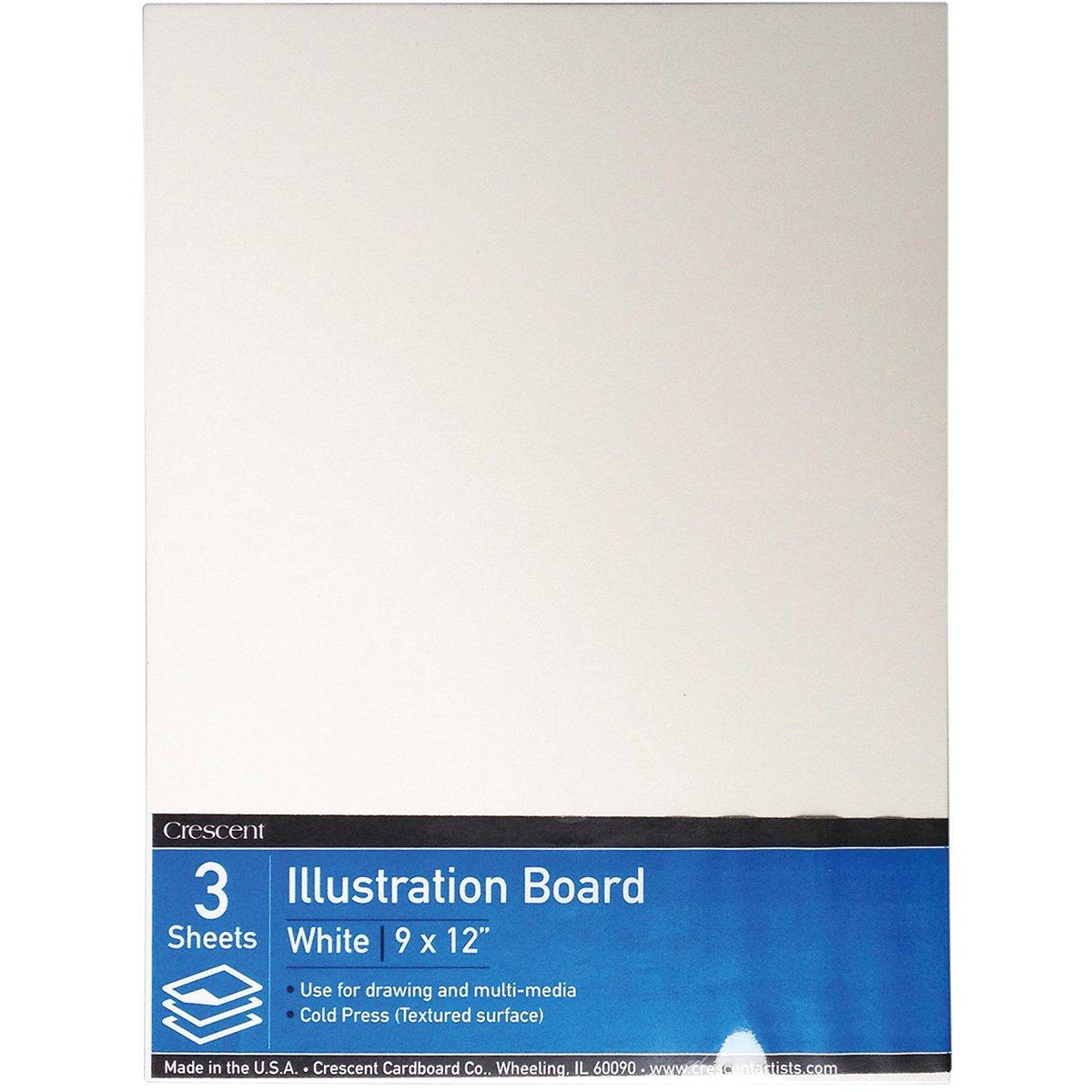 Crescent Cardboard Illustration Value Pack 9 by 12-Inch 3-Pack