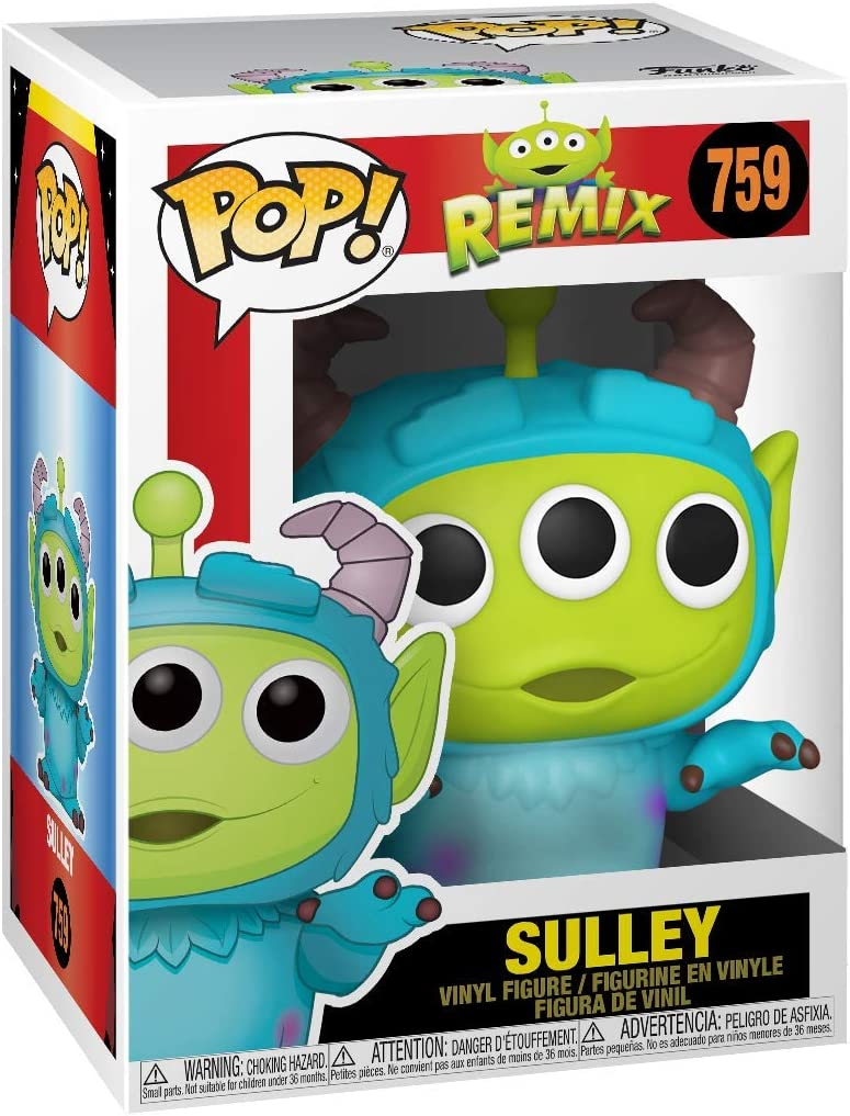 Pop Disney Funko Pixar-Alien as Sulley Anniversary Figura Coleccionable 48362 Multicolor
