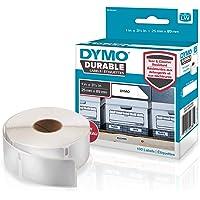 DYMOLW Étiquettes résistantes pour étiqueteuses LabelWriter, plastique blanc, 25x 89mm, rouleau de100 (1976200)