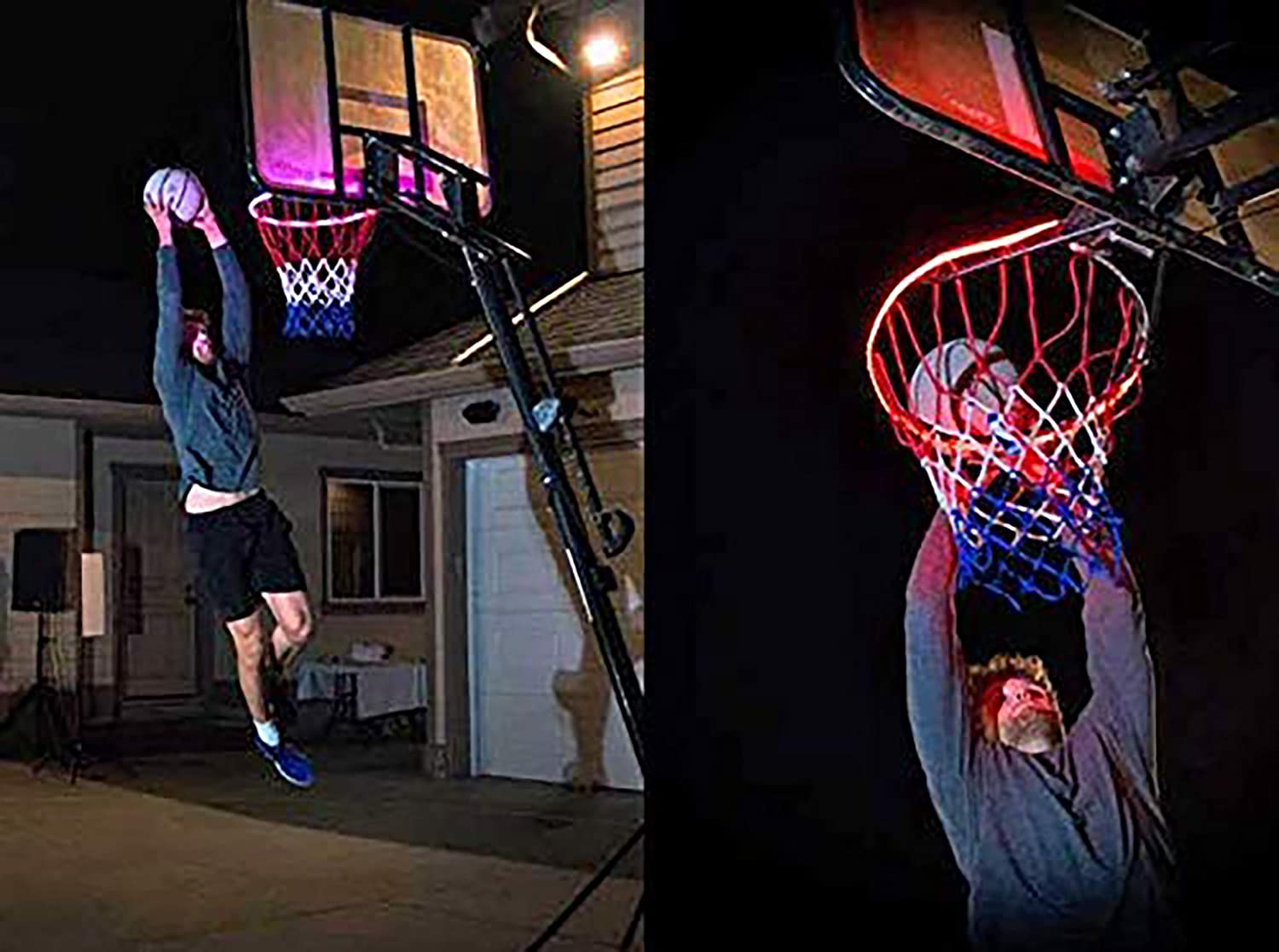 Perfect for Playing at Night Outdoors LED Basketball Hoop Lights Basketball Rim LED Light Swish Ideal for Kids Adults Training Games 3 on 3 Lights up Basketball Rim kit